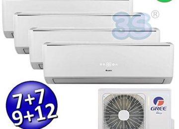 Climatizzatore inverter quadri split LOMO Wi-Fi 7000 + 7000 + 9000 + 12000 Btu GREE R32 classe A++/A+
