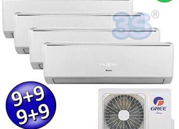 Climatizzatore inverter quadri split LOMO Wi-Fi 9000 + 9000 + 9000 + 9000 Btu GREE R32 classe A++/A+