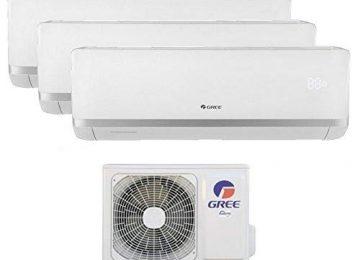Climatizzatore inverter trial split BORA 12000 + 12000 + 12000 Btu GREE R32 classe A++/A+