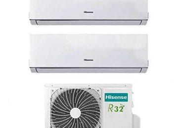 Condizionatore Climatizzatore Dual Split Inverter Hisense New Comfort 7000+12000 7+12 Btu A++ 2AMW46U4SGD1