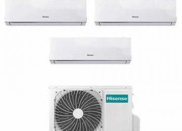 Condizionatore Climatizzatore Trial Split Inverter Hisense Comfort 9000+9000+12000 9+9+12 Btu A++ AMW3-20U4SZD1