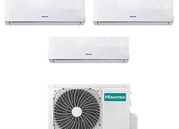 Condizionatore Climatizzatore Trial Split Inverter Hisense New Comfort 7000+7000+12000 7+7+12 Btu A++ 3AMW58U4SZD1