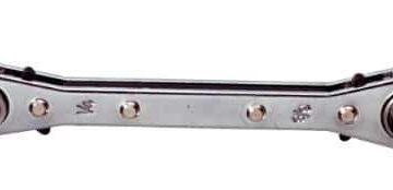KS Tools 130.0122 Chiave a Cricco per Condizionatori 4 in 1.Reversibile